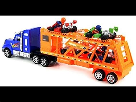 re porte voiture camion jouet porte voitures pour les enfants