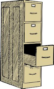 File Cabinet With Drawes Clip Art at Clker.com   vector