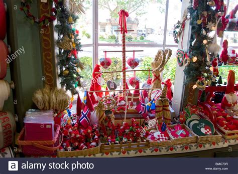 christmas store usa ornament and decoration store in solvang california usa stock photo royalty free