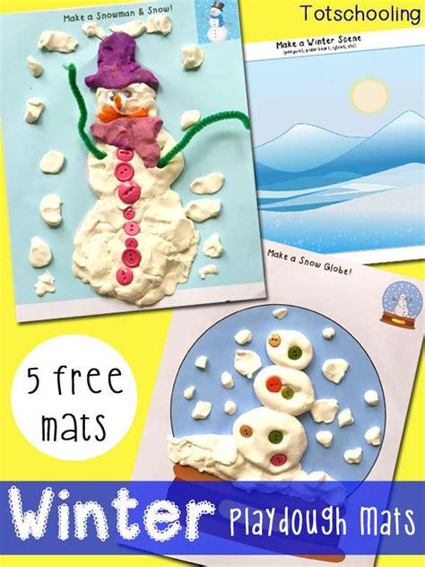 snow playdough mats printable snowman letter matching puzzles love to learn linky 20