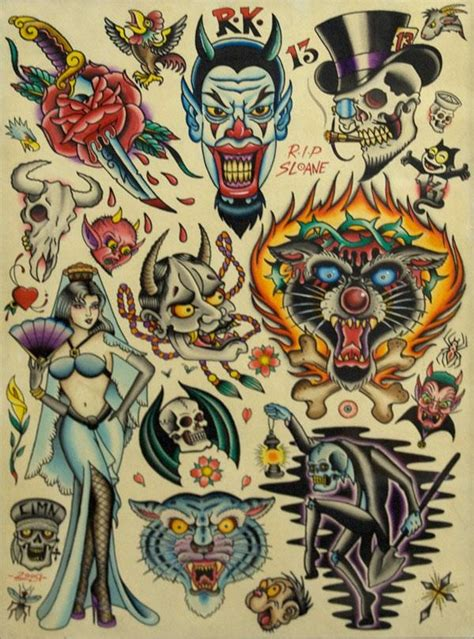 tattoo flash wall art collection of 25 traditional tattoo flash and wall art
