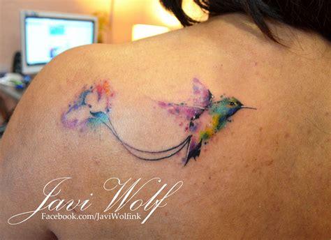 watercolor tattoo javi watercolor hummingbird tattooed by javi wolf my