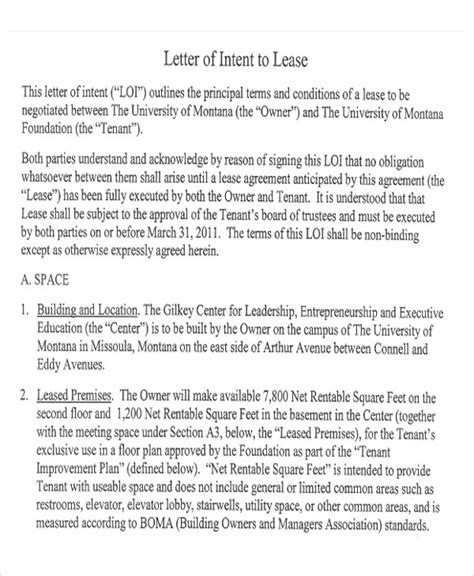 sle lease letter 9 exles in pdf word