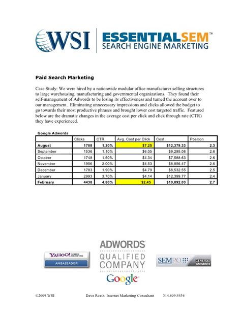 Paid Search Study Paid Search Marketing Studies