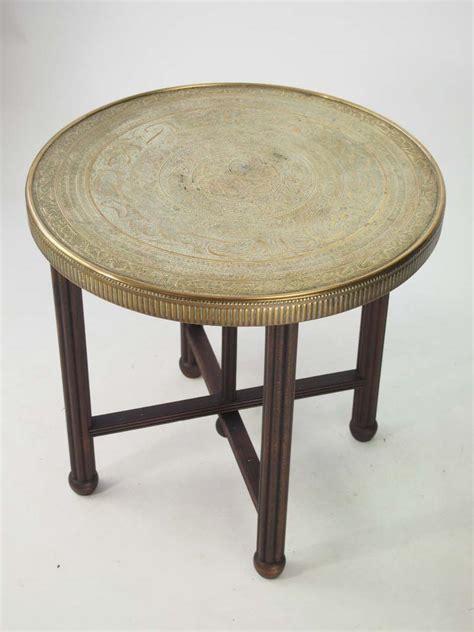 vintage brass side table vintage brass top berber benares coffee table side l