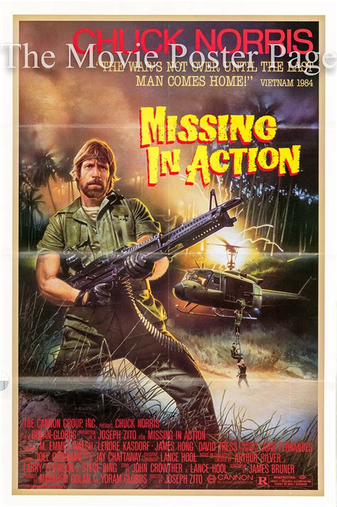 Missing In Action 1984 Missing In Action 1984 Chuck Norris One Sheet F Ex 28