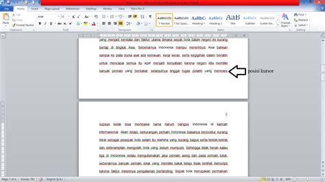 cara membuat halaman yang berbeda di ms word 2010 langkah membuat halaman pada word cara membuat letak nomor