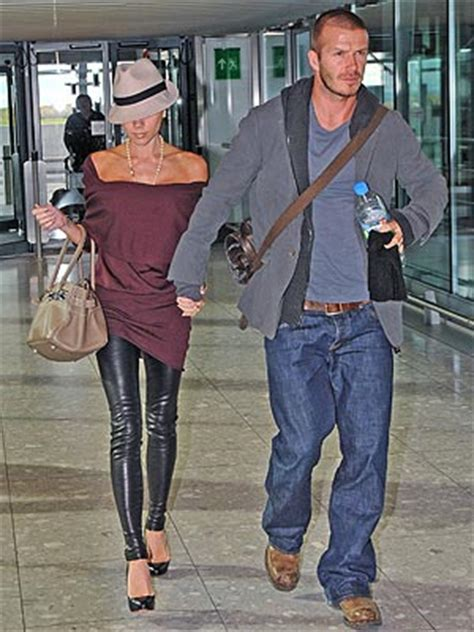 Beckham A Hermes Purse And One Bad Hat by Airport Style And David Beckham