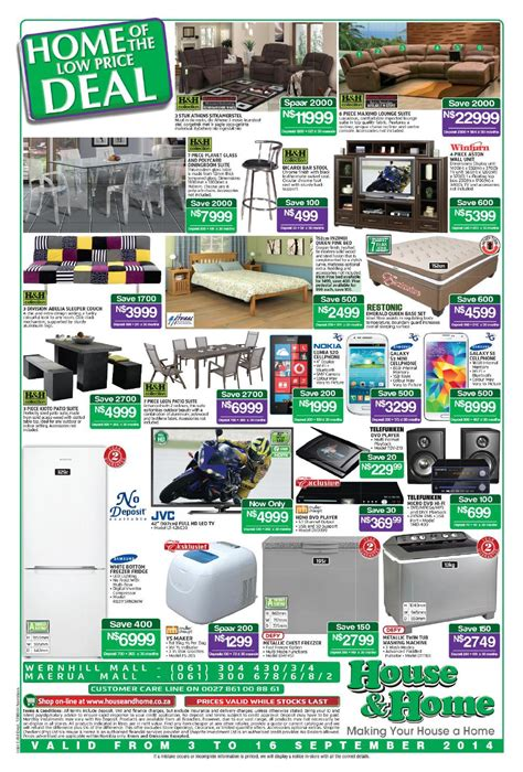 house home catalogue namibia validity 3 16 september