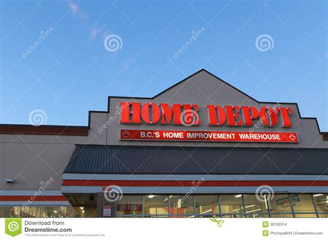 home depot editorial stock image image 30130314