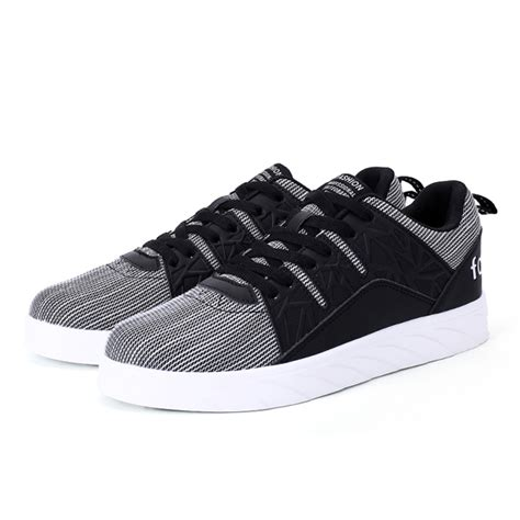 sports canvas shoes unisex canvas sports shoes thick bottom black