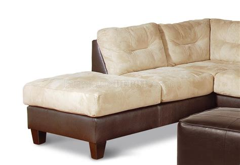 long sectional two toned contemporary sectional sofa w extra long chaise