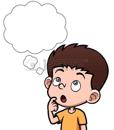 imagenes para pensar en alguien ilustraci 243 n vectorial de dibujos animados ni 241 os pensando