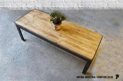 vintage industrial rectangular coffee table