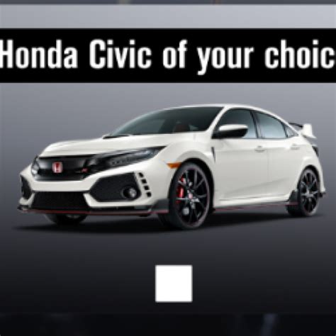 Honda Sweepstakes by Win A Honda Civic Type R S Giveaways