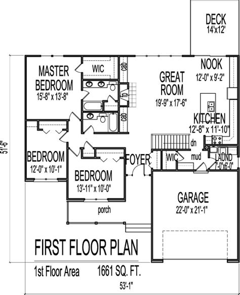 3 bedroom house plans with basement simple house floor plans 3 bedroom 1 story with basement