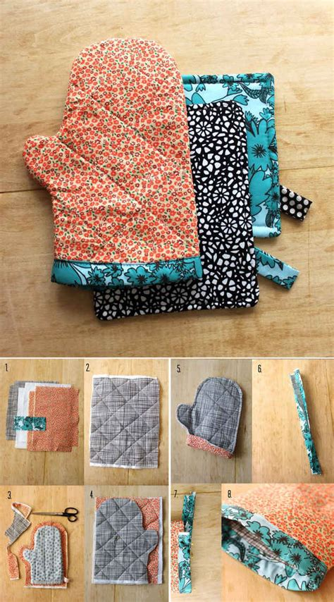 using fabric for home decor projects kovi sew an oven mitt out of fabric scraps 21 adorable diy