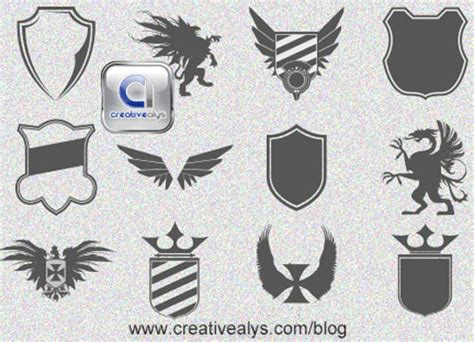 design a vector logo in photoshop 40 free and attractive vector shields for designers