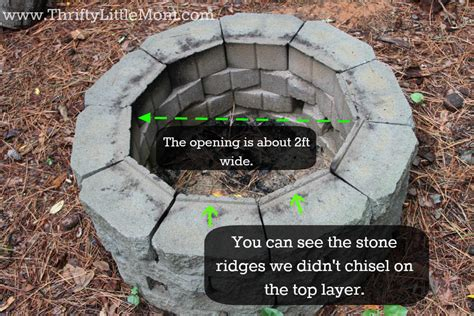 Easy Diy Inexpensive Firepit For Backyard Fun 187 Thrifty How To Build A Backyard Pit Cheap