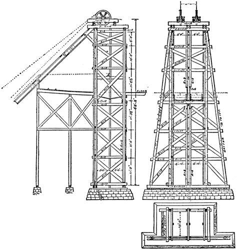 design brief of mine headgear mining headgear hoist tower clipart etc