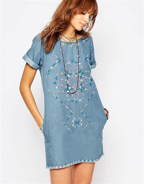 Dresa Denim vestido largo de mujer color azul claro de pepe