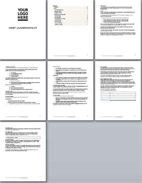 money laundering policy template 30 best business documents images on template