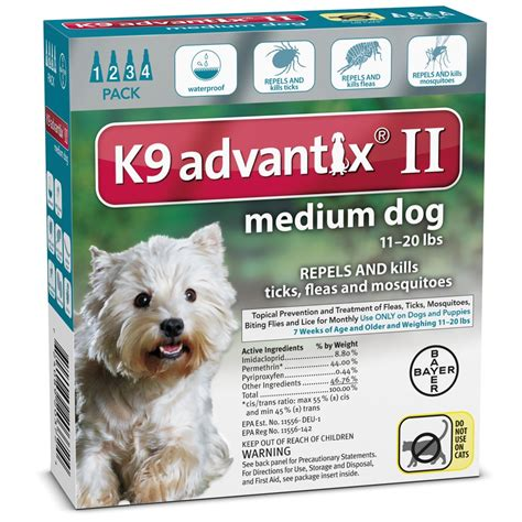 k9 advantix for dogs 11 20 lbs 4 month k9 advantix ii teal for medium dogs 11 20 lbs