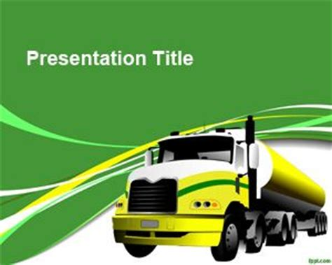 Free Truck Transport Powerpoint Template Transportation Powerpoint Templates