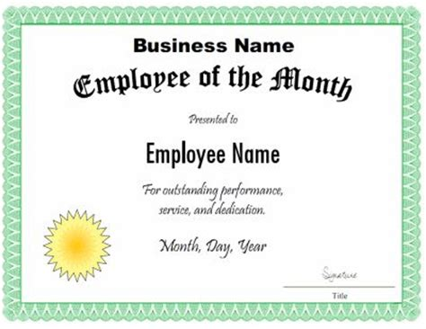 employee recognition certificate templates 13 best staff appreciation images on