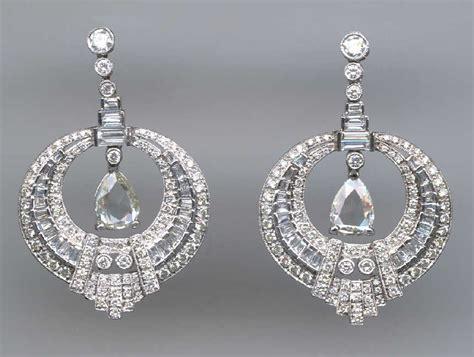 Berlian 0 19ct ohrringe deco juwelen gold brillant art1900