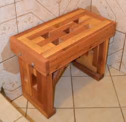 bloombety cedar shower bench with ceramic floor why