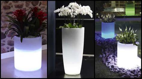 fioriere luminose vasi luminosi da giardino ed interno