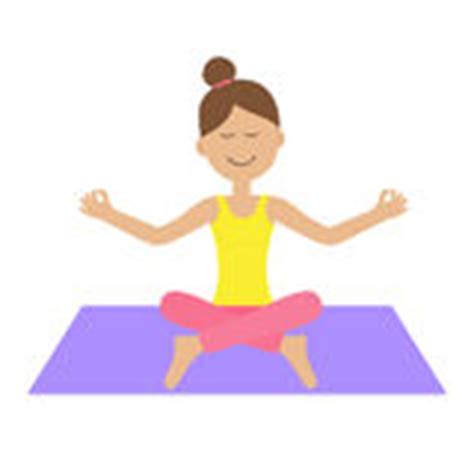 cartoon yoga wallpaper beautiful young woman meditating in lotus position while