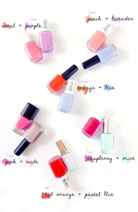 nail color combinations 25 best ideas about nail color combos on nail