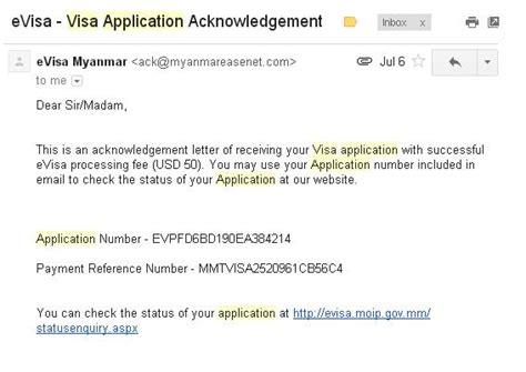 Visa Pending Letter travel how to apply myanmar visa application hazeldiary