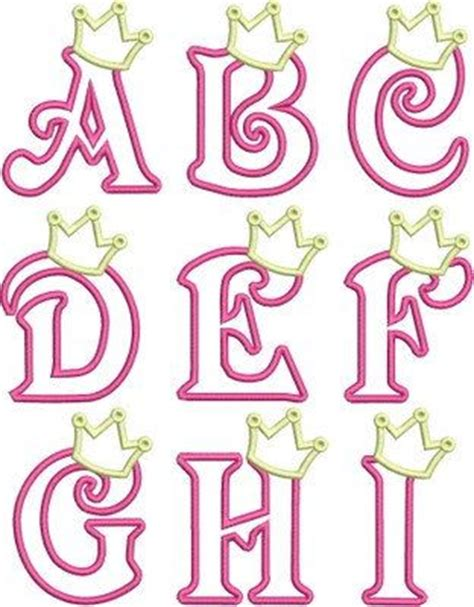 princess letter template iron on applique princess crown letters a z iron on