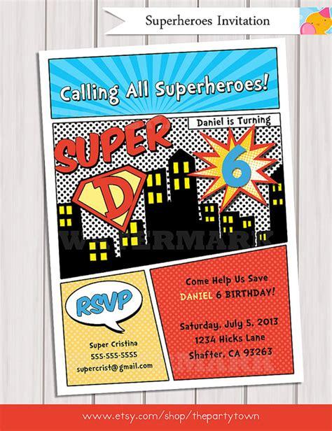 printable birthday invitations superhero superhero birthday party invitation personalized printable