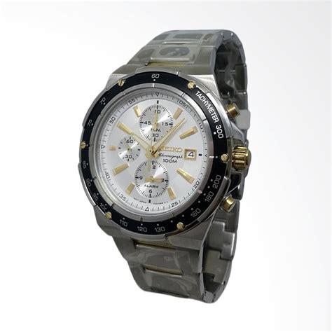 Seiko 151077 Analog Tali Rantai Jam Tangan Pria Gold jual seiko chronograph tali rantai jam tangan pria hitam gold silver 151210 harga
