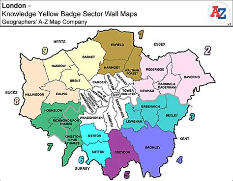 Signs For Home Decor by London Knowledge Yellow Badge Sector Wall Maps Stanfords