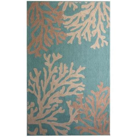 teal and coral rug lanart coral teal polyester 6 ft x 9 ft area rug