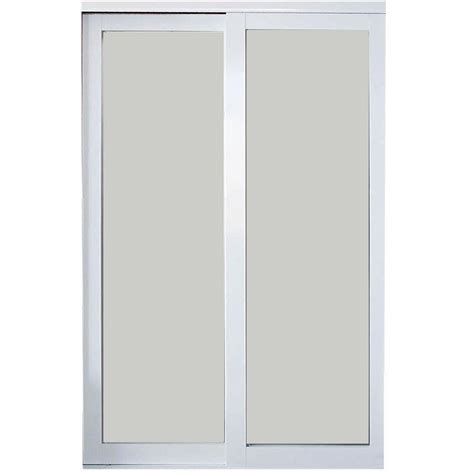 Aluminum Closet Doors Contractors Wardrobe 48 In X 81 In Eclipse White Finish Mystique Glass Aluminum Interior