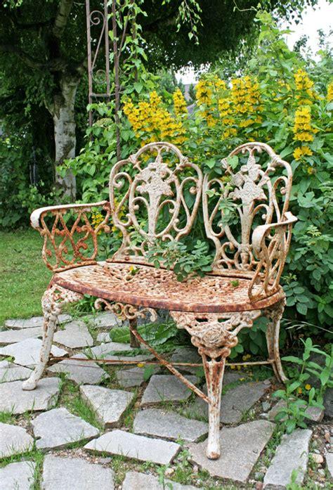 Gartenbank Gusseisen Antik