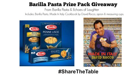 Prize Pack Giveaway - 7 easy pasta dinners for families barilla pasta prize pack giveaway echoes of laughter