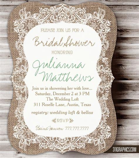 christmas bridal shower invitation rustic bridal shower invitation