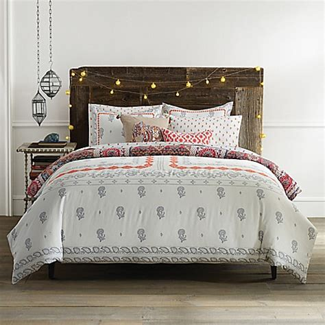 bed bth and beyond anthology jodhpur reversible comforter set bed bath