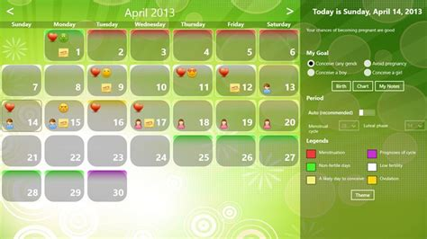 Conceiving Calendar Ovulation Chart For Conceiving A Ovulation Calendar