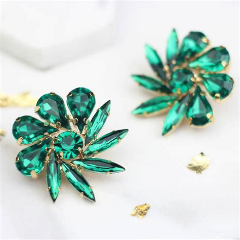 Flower Stud Earrings flower stud earrings by rabal notonthehighstreet