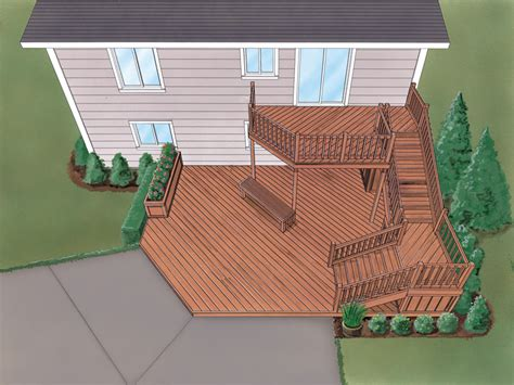 split level deck plans grafton split level deck plan 064d 3008 house plans and more