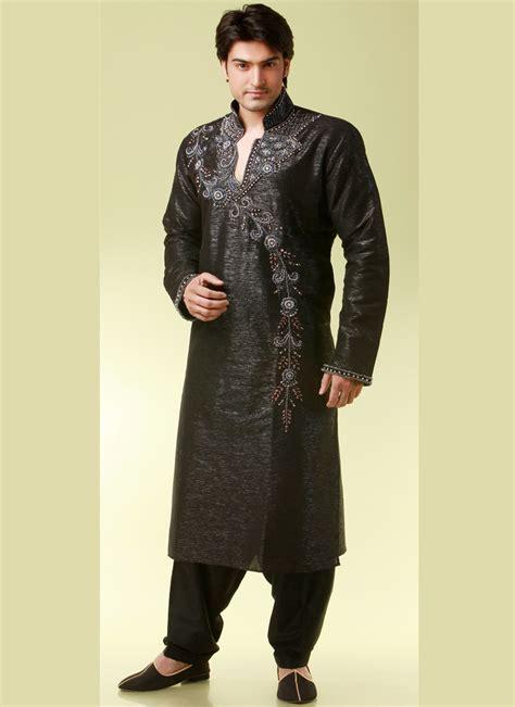 kurta pattern in black indian wedding essentials black pathani style kurta