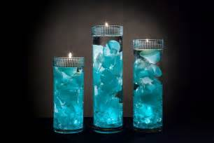 Wholesale Vases For Weddings Teal Floral Centerpieces With Led Lights And Floating Candles